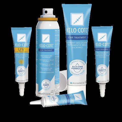 Narbengel und Narbensprays von Kelo-Cote - Produktsortiment