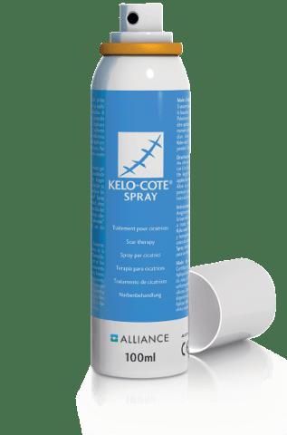 KELO-COTE Narben Spray ist ein selbstrocknendes Silikon Spray für berührungsempfindliche Narben, wie Verbrennungen.